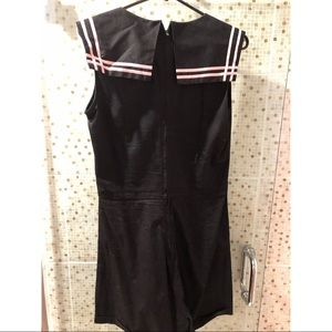 Bettie Page Other - Bettie Page Las Vegas - pink and black romper